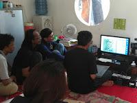 Kartunis Semarang belajar menggali ide kartun bersama Jitet Koestana
