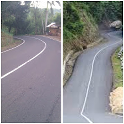 Jalan ke Pantai Jayanti Cidaun