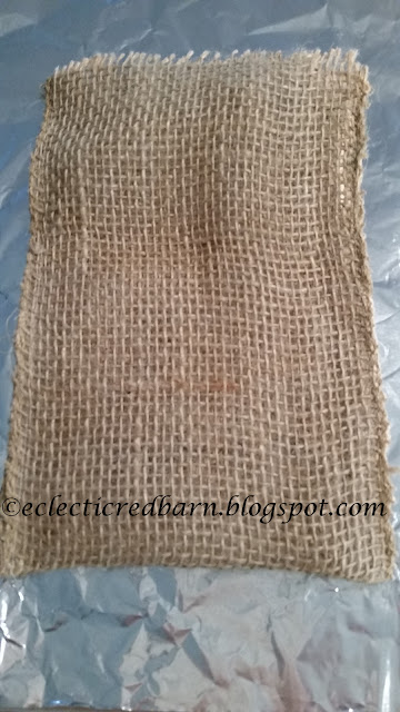 Eclectic Red Barn: Burlap Treat Bag cut out