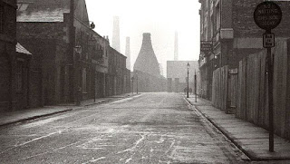 South Wolfe Street, Stoke, looking towards the rear of the now-demolished Minton Factory