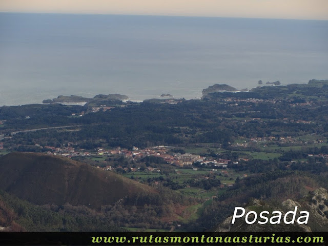 Vista de Posada de llanes desde el Benzúa
