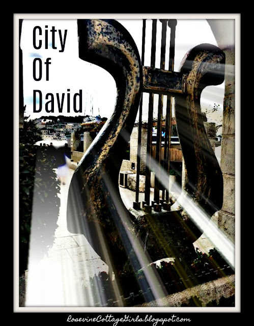 The City Of David | Photo of a sculpture of David's harp in the City of David Jerusalem