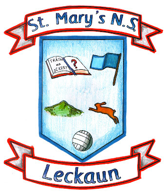 Leckaun National School Crest