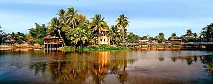 Monastery on an island