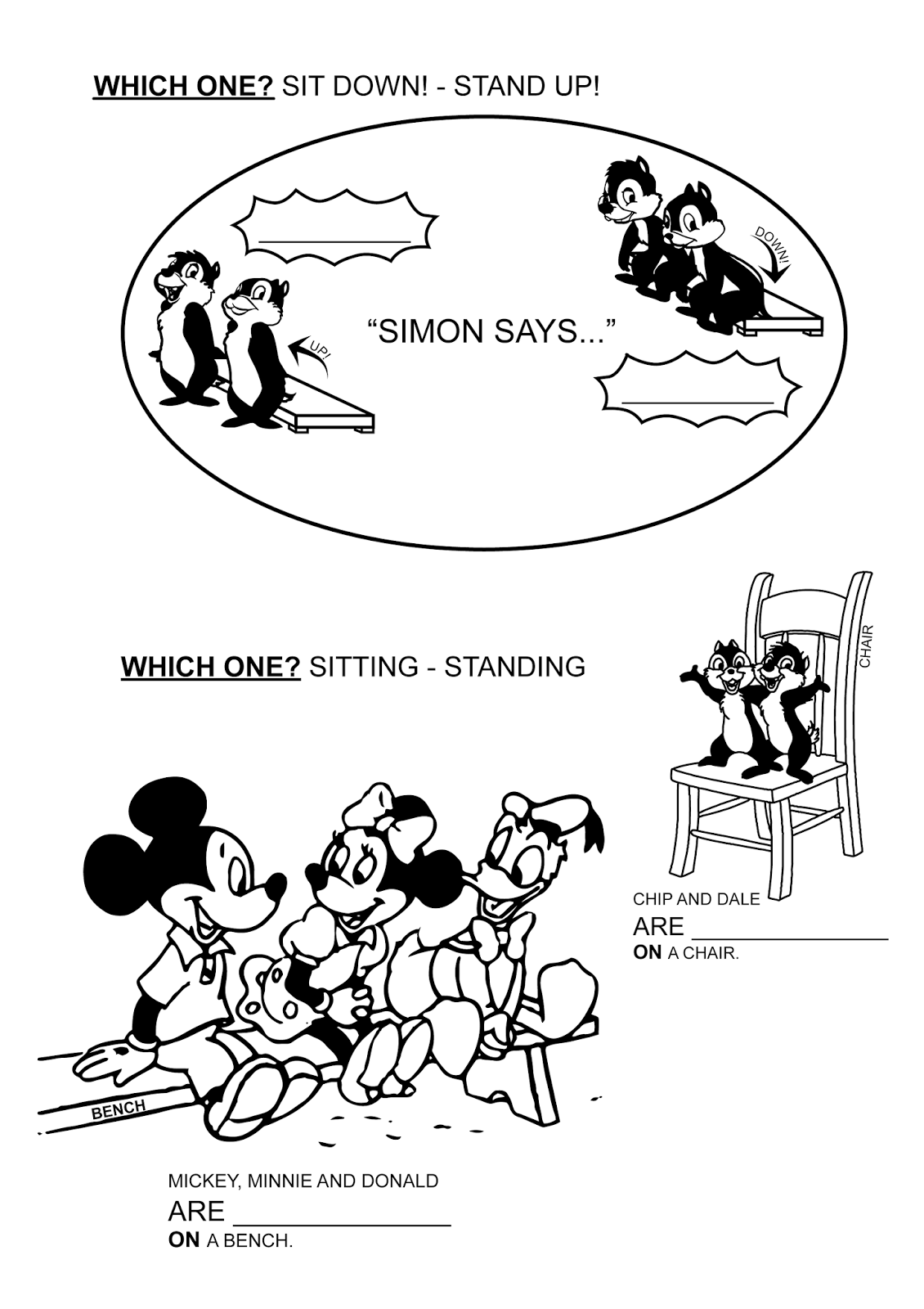Paginas Para Colorear Originales Original Coloring Pages Stand Up And Sit Down