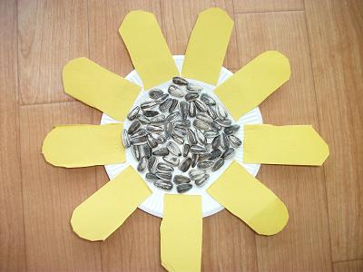 Sunflower Seeds Paper Plate Flower Craft & Sunflower Seeds Paper Plate Flower Craft | Preschool Crafts for Kids