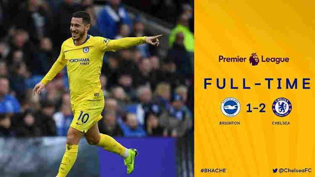Cuplikan Gol  Brighton vs Chelsea Skor Akhir 1-2
