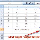 Cara Cepat Mencari Nilai Tertinggi di Ms Excel