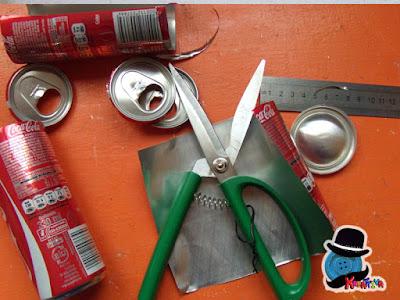 materiali di riciclo per progetto creativo