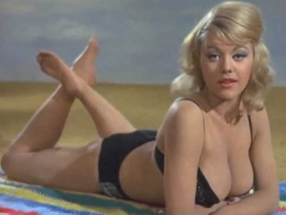 Margaret Nolan as Binky in Goldfinger jamesbondreview.blogspot.com