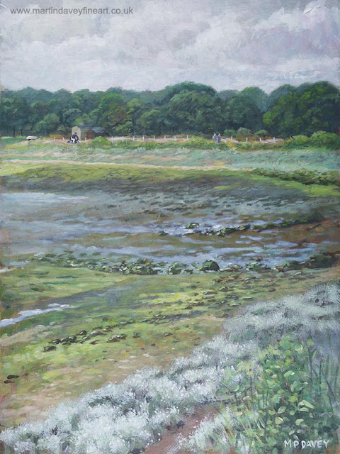 Hampshire hamble river warsash landscape art