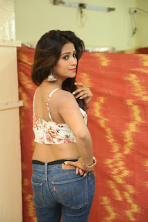 Deekshita Parvathi in a short crop top and Denim Jeans Spicy Pics Beautiful Actress Deekshita Parvathi January 2017 CelebxNext (42).JPG