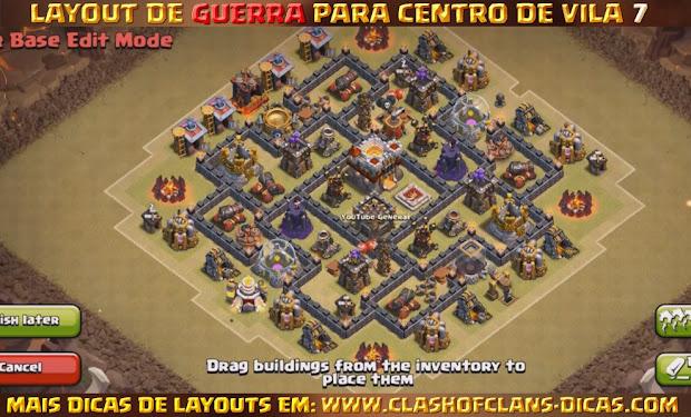 Layouts para cv7 em guerra clash of clans dicas gemas gr 225 tis
