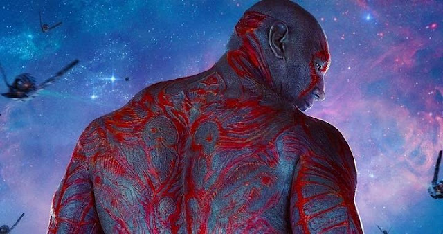 Dave Bautista es Drax en Guardians of the Galaxy 2