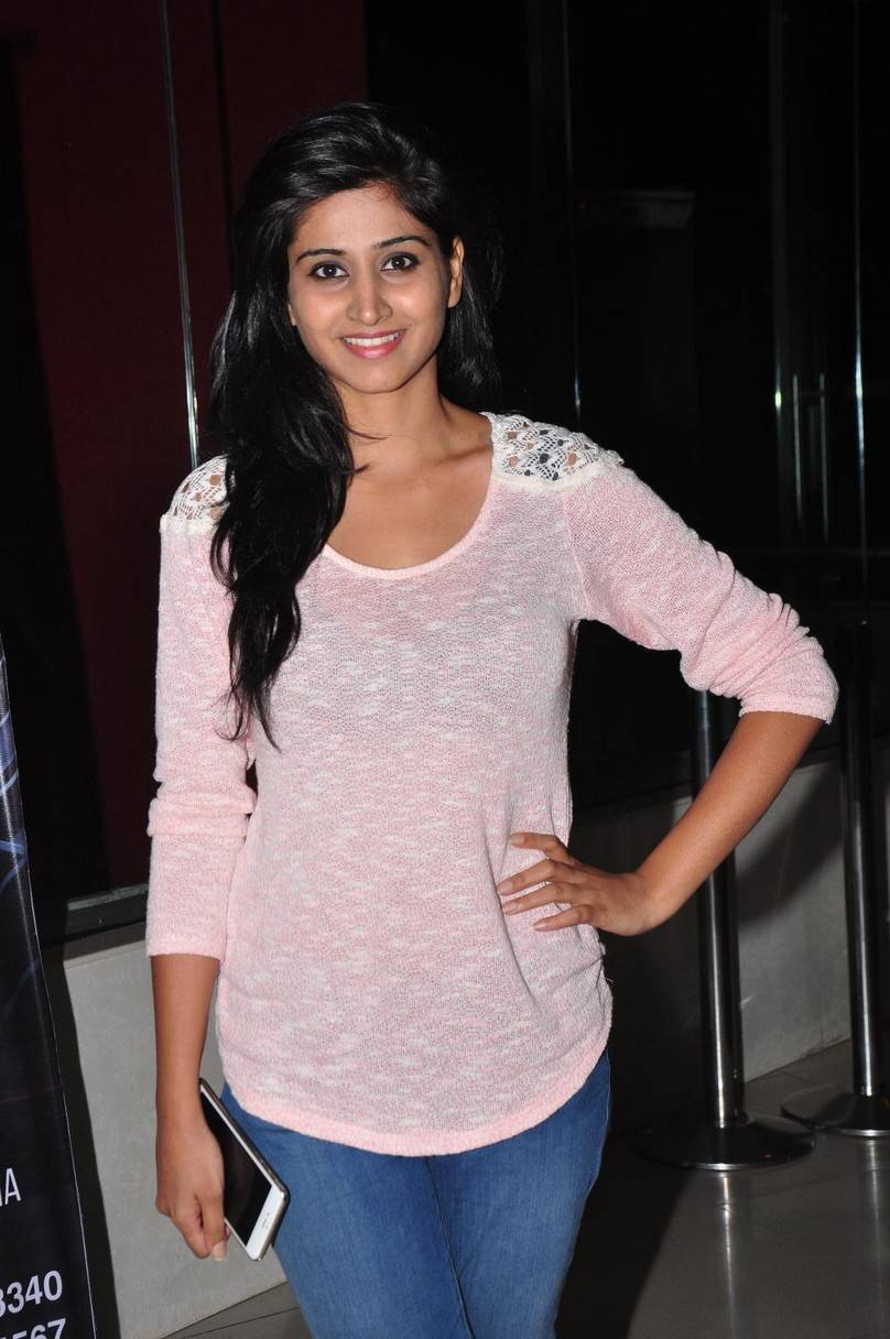 Actress Shamili Long Hair Photos in Blue Short