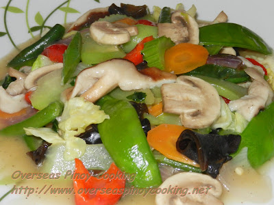 Vegetable Chopsuey, Vegetarian Chop Suey