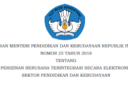 Permendikbud No 25 [Tahun] 2018