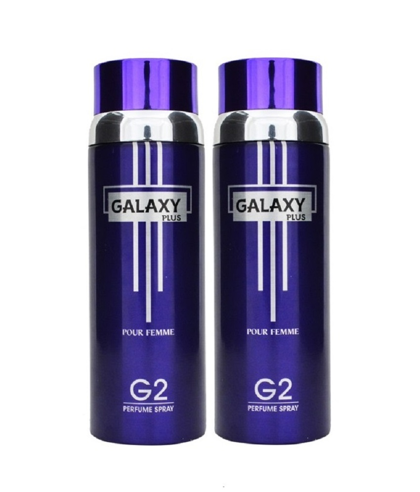 Pack of 2 - Galaxy Plus G 2 Pour Femme Body Spray 200 ml Each