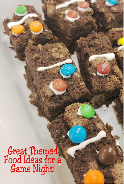 Make your game night party amazing by adding these awesome food ideas to your dessert table.  They are quick, easy, and super fun party treats that will amaze your guests and your stomach! #gamenight #desserttable #dessert #diypartymomblog