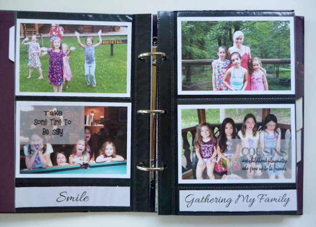 Photo Pocket Album Page with Typed Journaling, Photo Captions, and Vellum Quotes