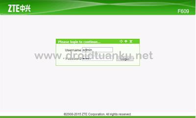 4 Cara Setting Modem Wifi Indihome ZTE F609 Fiber