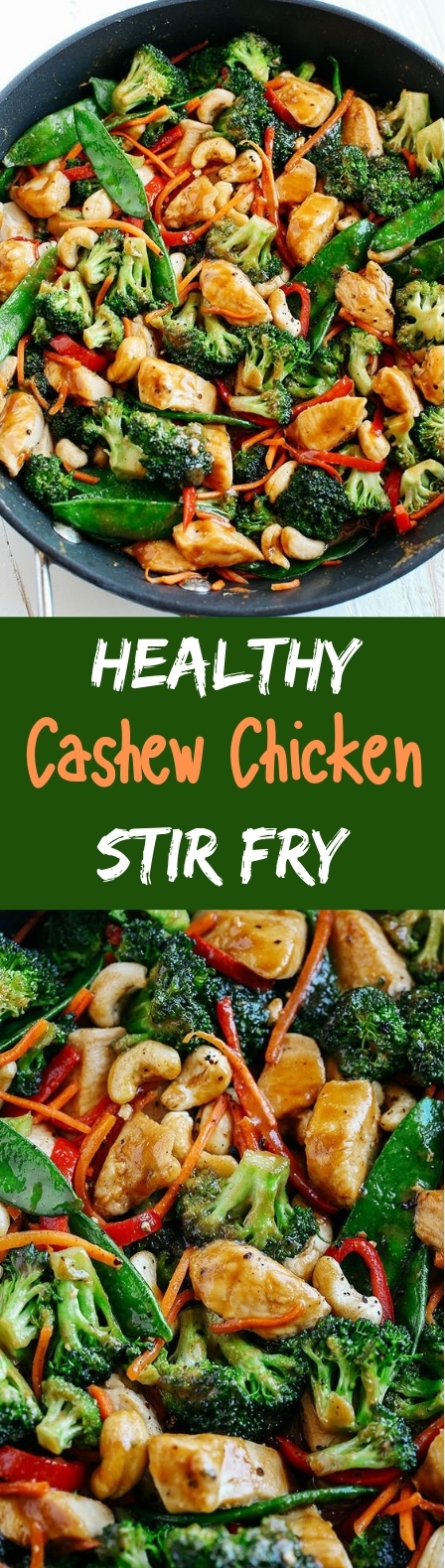 One Skillet Cashew Chicken Stir Fry #healthy #lowcarb
