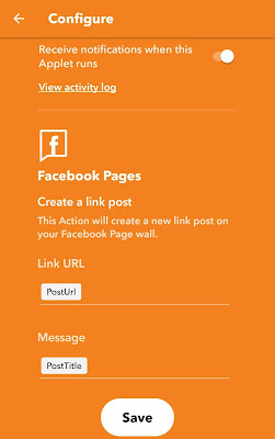Configure Facebook post settings