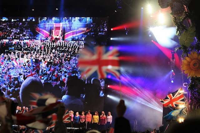 Big screen at Proms in the Park, London - UK lifestyle blog