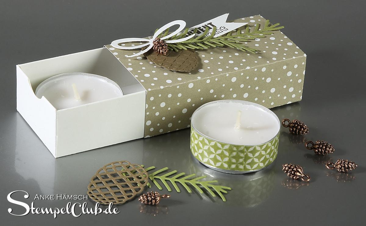 Magische Teelichter, Matchbox mit dem Envelope Punchboard
