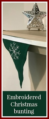 How to make embroidered felt Christmas bunting
