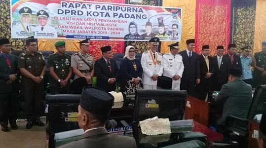 Pelantikan Wako dan Wako Padang, MAHEN Masa Depan Kota yang Memiliki Daya Tawar