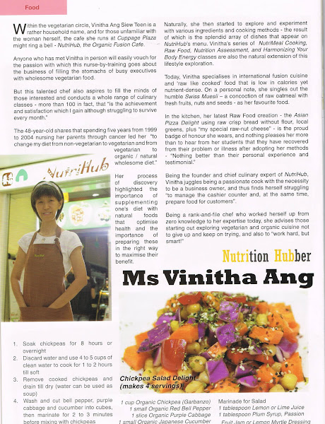 Write up by VegVibe Jan / Feb 2011