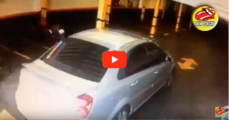 Atraco y robo de vehículo en estacionamiento de Los Chorros
