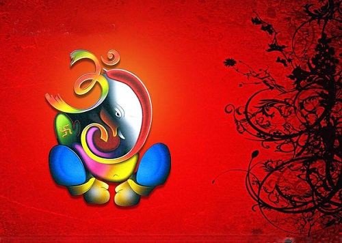 Beautiful Abstract Painting of Lord Ganesha