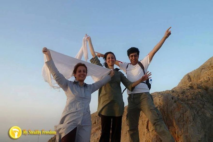 "Iranian Women Are Posting Pics With Their Hair Flying Free In Protest Of Strict Hijab Laws - ""Enjoying the wind passing through our hair. Something that's so obviously a man's right is considered illegal offensive act for me and my sister."""