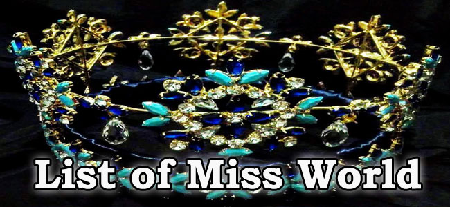 General Knowledge | List of Miss World Winners | Kerala PSC GK