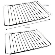 Pack de 2 Estantes Rejilla de Horno Universales - Diseño Ajustable / Extensible