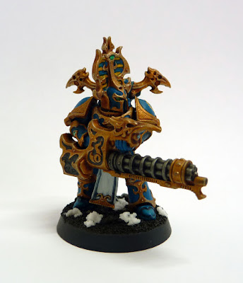 Thousand Sons Rubric Marine with Reaper Autocannon for Warhammer 40,000