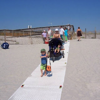Greatmats walkway mats on beach