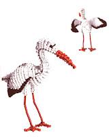 Птицы из бисера: аист