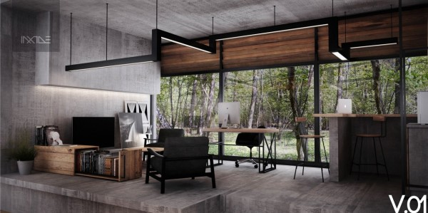 Ideas Comfortable Working Space At Home Decorating And