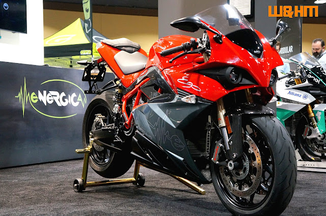 red Energica sportbike Ego in IMS