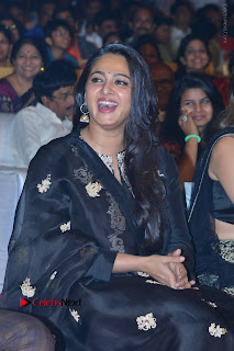 Actress Anushka Anushka Shetty Stills in Black Salwar Kameez at Om Namo Venkatesaya Audio Launch Event  0015.JPG