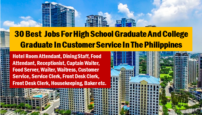 "Are you looking for a local job in the Philippines? The following are job vacancies for you. If you are interested, you may contact the employer/agency listed below to inquire further or to apply.  Advertisement       Sponsored Links      1. Hotel Room Attendant  Job level:  Fresh Grad / Entry Level  Job category:  Hospitality and Tourism  Educational requirement:  Graduated from high school  Office Address:  P. Burgos Street, Makati, Metro Manila, Philippines  Industry:  Restaurants & Boutique Hotel  Vacancy:  20 openings   2. Customer Service Representative | Online Travel  Job level:  Fresh Grad / Entry Level  Job category:  Hospitality and Tourism  Educational requirement:  Graduated from high school  Office Address:  Unit 2004, 139 Corporate Center, 139 Valero St.,, Makati, Metro Manila, Philippines  Industry:  Business Process Outsourcing  Vacancy:  20 openings  Salary:  16,000.00 - 21,000.00 PHP / month · Full time   3. Customer Service Representative | Hotel & Travel  Job level:  Fresh Grad / Entry Level  Job category:  Hospitality and Tourism  Educational requirement:  Graduated from high school  Office Address:  20th, Unit 2004, 139 Corporate Center, 139 Valero St.,, Makati, Metro Manila, Philippines  Industry:  Business Process Outsourcing  Vacancy:  15 openings  Salary:  16,500.00 - 19,000.00 PHP / month · Full time   4. Dining Staff  Job level:  Fresh Grad / Entry Level  Job category:  Hospitality and Tourism  Educational requirement:  Graduated from high school  Office Address:  Manila, Metro Manila, Philippines  Industry:  Restaurants  Vacancy:  10 openings   5. Food Attendant  Job level:  Fresh Grad / Entry Level  Job category:  Hospitality and Tourism  Educational requirement:  Graduated from college  Office Address:  Room 464, Comfoods Building, Senator Gil Puyat Avenue corner Chino Roces Avenue, Pasay, NCR, Philippines  Industry:  Hospitality  Vacancy:  4 openings   6. Receptionist  Job level:  Fresh Grad / Entry Level  Job category:  Administration and Coordination  Educational requirement;  Graduated from college  Office Address:  Manila, Metro Manila, Philippines  Industry:  Shipping and Logistics  Vacancy:  1 opening   7. Captain Waiter  Job level:  Associate / Supervisor  Job category:  Hospitality and Tourism  Educational requirement:  Graduated from college  Office Address:  Room 464, Seaside Boulevard, Corner J.W. Diokno Blvd, Mall of Asia Complex, Pasay, NCR, Philippines  Industry:  Hospitality  Vacancy:  3 openings   8. Customer Solutions Officer | Provincial Caravans  Job level:  Fresh Grad / Entry Level  Job category:  Customer Service  Educational requirement:  Graduated from high school  Office Address:  34th Street, Taguig, Metro Manila, Philippines  Industry:  Investment Banking / Venture  Vacancy:  40 openings  Salary:  24,000.00 - 31,000.00 PHP / month · Full time   9. Food Attendant  Job level:  Fresh Grad / Entry Level  Job category:  Hospitality and Tourism  Educational requirement:  Graduated from college  Office Address:  Room 464, Comfoods Building, Senator Gil Puyat Avenue corner Chino Roces Avenue, Pasay, NCR, Philippines  Industry:  Hospitality  Vacancy:  4 openings   10. Food Server  Job level:  Fresh Grad / Entry Level  Job category:  Customer Service  Educational requirement:  Graduated from college  Office Address:  Intrawest Center, Annapolis, San Juan, 1504 Metro Manila, San Juan, Metro Manila, Philippines  Industry:  Education and Training  Vacancy:  3 openings   11. Receptionist  Job level:  Fresh Grad / Entry Level  Job category:  Administration and Coordination  Educational requirement:  Graduated from college  Office Address:  Manila, Metro Manila, Philippines  Industry:  Shipping and Logistics  Vacancy:  1 opening   12. Waiter  Job level:  Fresh Grad / Entry Level  Job category:  Manufacturing and Production  Educational requirement:  Graduated from college  Office Address:  Roxas Boulevard, Parañaque City, Metro Manila, Philippines  Industry:  Human Resources / HR  Vacancy:  5 openings   13. Waitress  Job level:  Fresh Grad / Entry Level  Job category:  Manufacturing and Production  Educational requirement:  Graduated from college  Office Address:  Roxas Boulevard, Parañaque City, Metro Manila, Philippines  Industry:  Human Resources / HR  Vacancy:  5 openings   14. Food Server  Job level:  Fresh Grad / Entry Level  Job category:  Customer Service  Educational requirement:  Graduated from college  Office Address:  Intrawest Center, Annapolis, San Juan, 1504 Metro Manila, San Juan, Metro Manila, Philippines  Industry:  Education and Training  Vacancy:  3 openings   15. Receptionist  Job level:  Fresh Grad / Entry Level  Job category:  Administration and Coordination  Educational requirement:  Graduated from college  Office Address:  6th Floor, 112 Amorsolo Street, Makati, Kalakhang Maynila, Philippines  Industry:  Real Estate / Mortgage  Vacancy:  1 opening  Salary:  13,000.00 - 16,000.00 PHP / month · Full time     16. Operations Intern  Job level:  Internship / OJT  Job category:  Administration and Coordination  Educational requirement  College  Office Address:  Garnet Road, Pasig, Metro Manila, Philippines  Industry:  Information Technology / IT  Salary:  6,000.00 - 8,000.00 PHP / month · Part-time   17. Customer Solutions Officer  Job level:  Fresh Grad / Entry Level  Job category:  Customer Service  Educational requirement:  Graduated from high school  Office Address:  34th Street Citiplaza Building Corner Lane D. Bonifacio Global City Taguig, Taguig, Metro Manila, Philippines  Industry:  Investment Banking / Venture  Vacancy:  20 openings   18. Kitchen Staff  Job level:  Fresh Grad / Entry Level  Job category:  Hospitality and Tourism  Educational requirement:  Graduated from high school  Office Address:  Manila, Metro Manila, Philippines  Industry:  Restaurants  Vacancy:  5 openings   19. Brand Officer  Job level:  Associate / Supervisor  Job category:  Sales and Marketing  Educational requirement:  Graduated from college  Office Address:  Makati, Metro Manila, Philippines  Industry:  Financial Services  Vacancy:  1 opening  Salary:  28,000.00 - 32,000.00 PHP / month · Full time   20. Customer Service  Job level:  Fresh Grad / Entry Level  Job category:  Customer Service  Educational requirement:  Graduated from college  Office Address:  Cebu City, Central Visayas, Philippines  Industry:  Hospitality and Tourism  Vacancy:  6 openings  Salary:  15,000.00 - 17,000.00 PHP / month · Full time   21. Service Clerk  Job level:  Fresh Grad / Entry Level  Job category:  Customer Service  Educational requirement:  Graduated from college  Office Address:  Lot E, Impex Compound, Alabang-Zapote Road, Las Piñas, Metro Manila, Philippines  Industry:  Retail Industry  Vacancy:  3 openings   22. Customer Service Assistant  Job level:  Fresh Grad / Entry Level  Job category:  Customer Service  Educational requirement:  Graduated from college  Office Address:  Makati, Metro Manila, Philippines  Industry:  Banking / Mortgage  Vacancy:  3 openings   23. Customer Service | Hospitality  Job level:  Fresh Grad / Entry Level  Job category:  Customer Service  Educational requirement:  Graduated from high school  Office Address:  Bank Drive, Mandaluyong, Metro Manila, Philippines  Industry:  Call Center / BPO  Vacancy:  200 openings  Salary:  15,000.00 - 30,000.00 PHP / month · Full time   24. Front Desk Clerk  Job level:  Fresh Grad / Entry Level  Job category:  Hospitality and Tourism  Educational requirement:  Graduated from college  Office Address:  San Fernando, Central Luzon, Philippines  Industry:  Hospitality  Vacancy:  1 opening   25. Kitchen Manager  Job level:  Mid-Senior Level / Manager  Job category;  Hospitality and Tourism  Educational requirement:  Graduated from college  Office Address:  7th, 7th Fl. RFM Corporate Center, Pioneer cor Sheridan St., Mandaluyong City, Mandaluyong, Metro Manila, Philippines  Industry:  Restaurants  Vacancy:  4 openings   26. Bartender  Job level:  Fresh Grad / Entry Level  Job category:  Hospitality and Tourism  Educational requirement:  Graduated from college  Office Address:  Pasay, NCR, Philippines  Industry:  Hospitality  Vacancy""  3 openings   27. Hotel Room Attendant  Job level:  Fresh Grad / Entry Level  Job category:  Hospitality and Tourism  Educational requirement:  Completed vocational course  Office Address:  Bagac, Central Luzon, Philippines  Industry:  Hospitality  Vacancy:  10 openings   28. Housekeeping Supervisor  Job level:  Associate / Supervisor  Job category:  Hospitality and Tourism  Educational requirement:  Graduated from college  Office Address:  Bagac, Central Luzon, Philippines  Industry:  Hospitality  Vacancy:  4 openings   29. Baker  Job level:  Associate / Supervisor  Job category:  Hospitality and Tourism  Educational requirement:  Graduated from college  Office Address:  Bagac, Central Luzon, Philippines  Industry:  Hospitality  Vacancy:  1 opening   30. Commis 2 