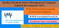 MP Power Management Company Limited Recruitment 2017– 34 Assistant Engineer/Manager, Chartered Accountant