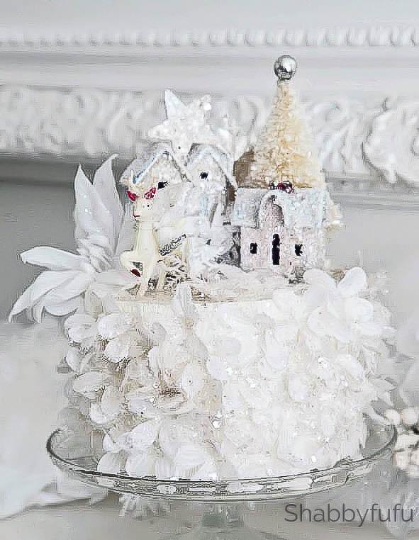 rose petal christmas cake