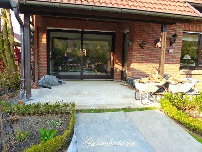 gartenbuddelei unsere neue terrasse. Black Bedroom Furniture Sets. Home Design Ideas
