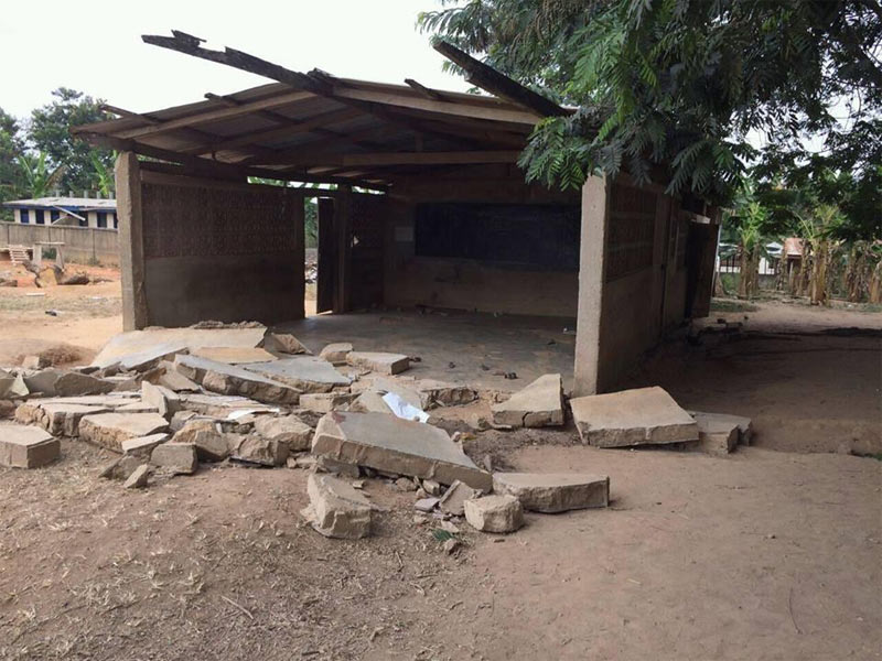 Very graphic: 6 children crushed to death as nursery school wall collapses in Ghana