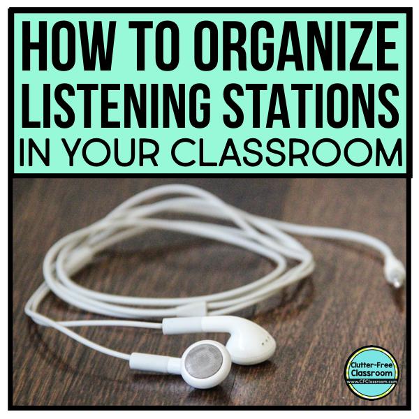 LISTENING CENTER Set Up, Organization, and Storage Ideas | Clutter ...