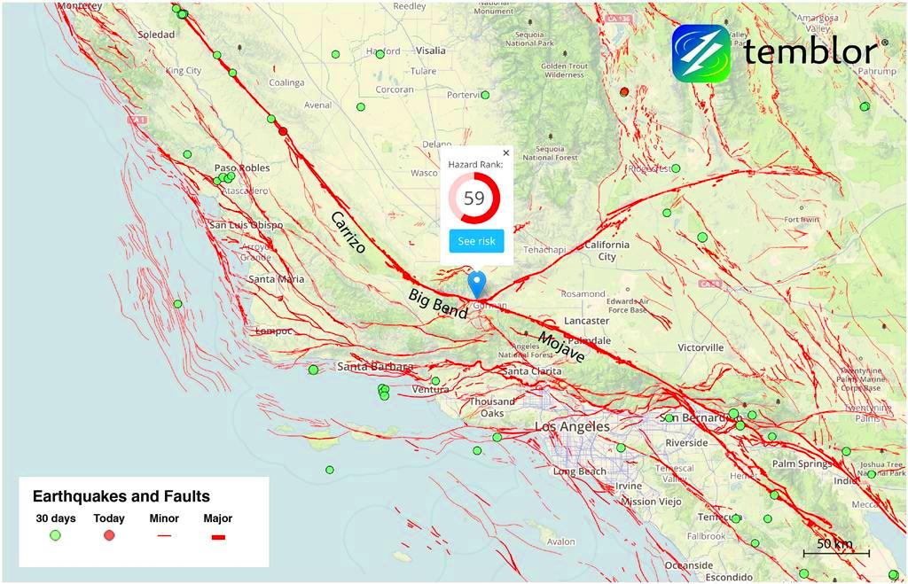 USGS Study Finds New Evidence of San Andreas Fault Earthquakes on sonoma county map with cities, oregon map with cities, colorado river map with cities, marin county map with cities, central coast map with cities, los angeles map with cities,